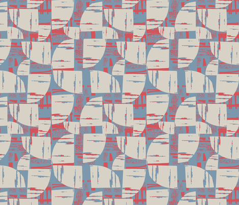 Urban Geo Blue fabric by slumbermonkey on Spoonflower - custom fabric