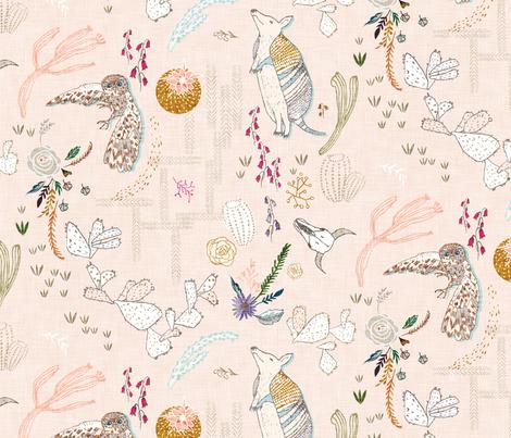 Desert Vibes (peach) fabric by nouveau_bohemian on Spoonflower - custom fabric