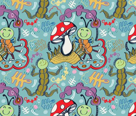 Happy Mini Monsters fabric by slumbermonkey on Spoonflower - custom fabric