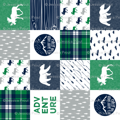 "3"" small scale - the happy camper wholecloth (90) 