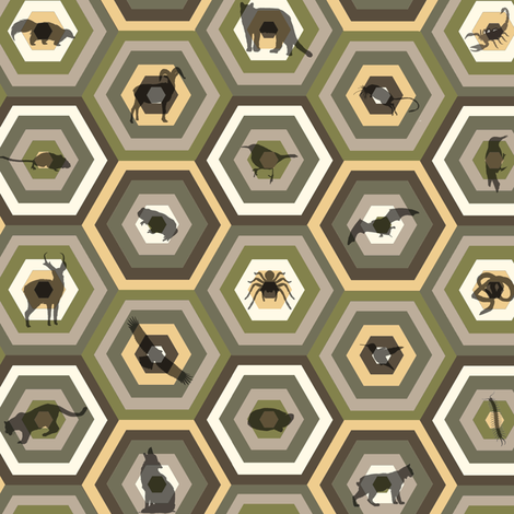 Sonoran desert animals fabric by zandloopster on Spoonflower - custom fabric