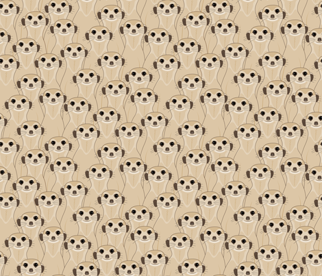 Meerkats_Kalahari Desert_100% fabric by mia_valdez on Spoonflower - custom fabric