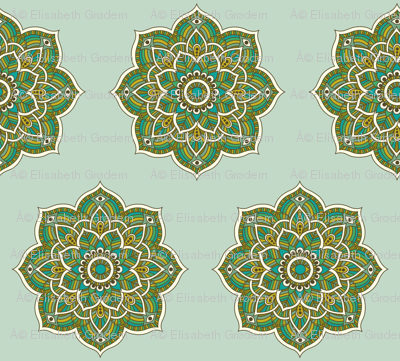 Soul Love Mandalas Green Large