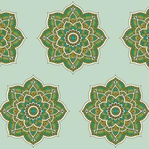Soul Love Mandalas Green Large