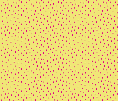 SEEDS YELLOW fabric by minkypnoo on Spoonflower - custom fabric