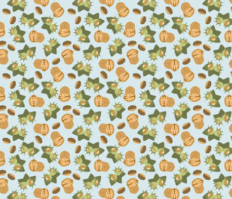 noisette_noix_marron_M fabric by nadja_petremand on Spoonflower - custom fabric