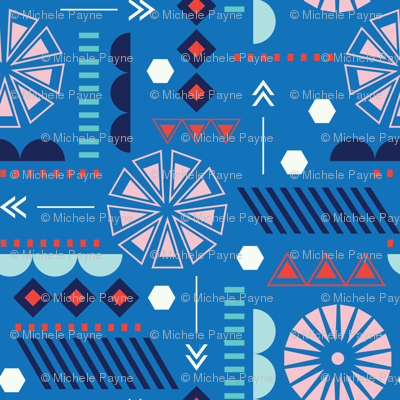 GEO CIRCLES BLUE