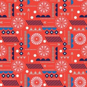 GEO CIRCLES RED