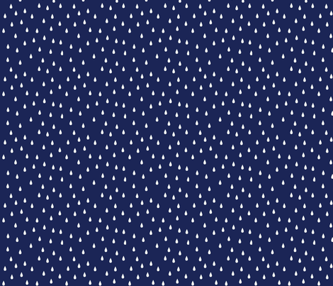RAINDROPS NAVY fabric by michelepayne on Spoonflower - custom fabric