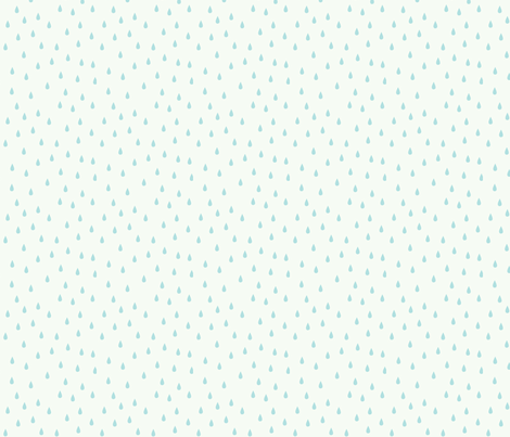 RAINDROPS BABY BLUE fabric by minkypnoo on Spoonflower - custom fabric