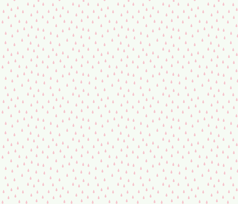 RAINDROPS BABY PINK fabric by michelepayne on Spoonflower - custom fabric