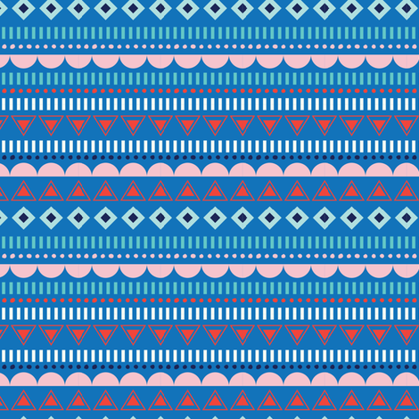 GEOSTRIPE BLUE fabric by minkypnoo on Spoonflower - custom fabric