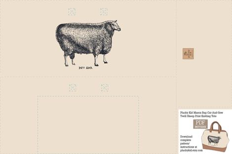 Mason Bag Knitting Tote Cut-And-Sew fabric by pluckykid on Spoonflower - custom fabric