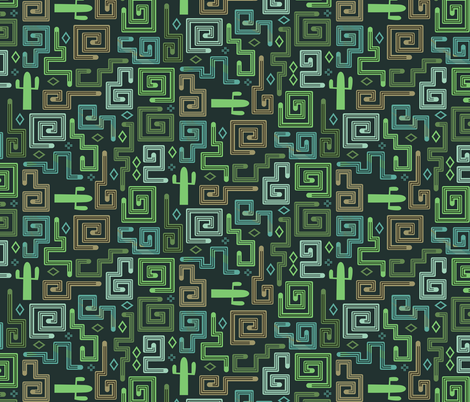 Sonoran Snakes fabric by chris_jorge on Spoonflower - custom fabric
