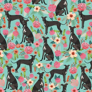 italian greyhound florals fabric best dogs and flowers design