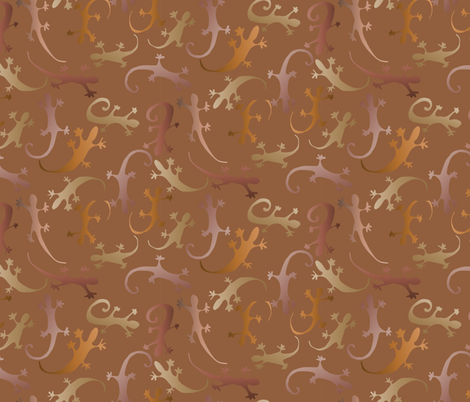 Golden lizards fabric by craftwithcartwright on Spoonflower - custom fabric