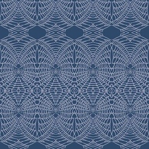 spider Web (Lavender on Deep Blue)