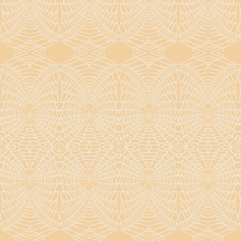 Spider Web (Apricot) fabric by belovedsycamore on Spoonflower - custom fabric