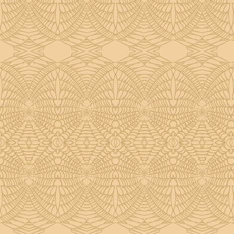 Spider Web (Sienna on Apricot) fabric by belovedsycamore on Spoonflower - custom fabric