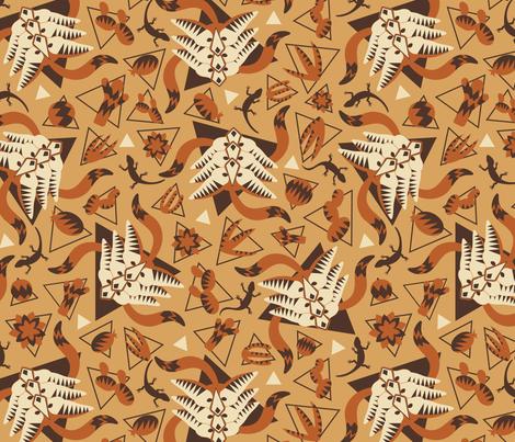 Desert fennec fox fabric by lauraflorencedesign on Spoonflower - custom fabric