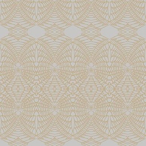 Spider Web (Sienna on Gray)