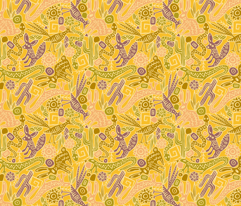 Desert Critters fabric by seesawboomerang on Spoonflower - custom fabric