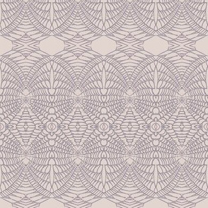 Spider Web (Purple Gray on Blush)