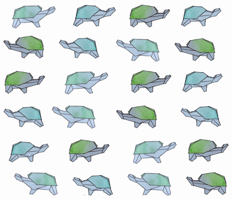 origami watercolor tortoises fabric by tiffanyw07 on Spoonflower - custom fabric