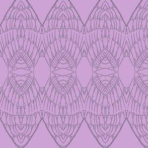 Lace Shield (Purple on Fuchsia)