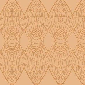 Lace Shield (Pumpkin on Apricot)