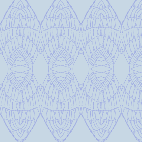 Lace Shield (Periwinkle on Pale Blue) fabric by belovedsycamore on Spoonflower - custom fabric