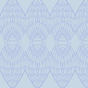 Lace Shield (Periwinkle on Pale Blue)