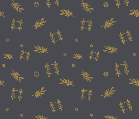 Torah Scroll variation_2 fabric by isabella_asratyan on Spoonflower - custom fabric