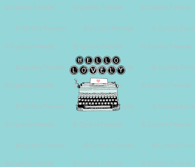 One yard typewriter