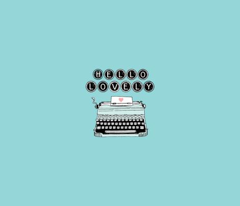 One yard typewriter fabric by cynthiafrenette on Spoonflower - custom fabric