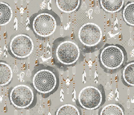 Desert Dreaming fabric by cynthiafrenette on Spoonflower - custom fabric