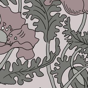 foxflowerspinkgrey