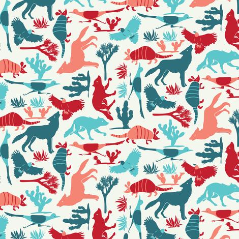 desert-animals fabric by ebygomm on Spoonflower - custom fabric