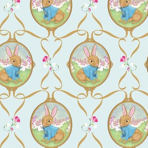 Bunny Bouquet in Spring Blue