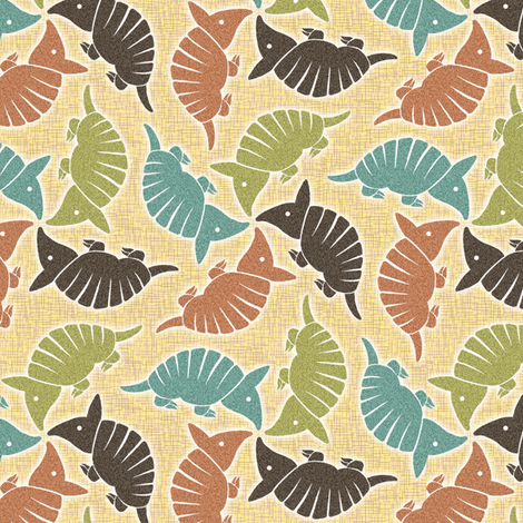 Desert Armadillo fabric by sufficiency on Spoonflower - custom fabric