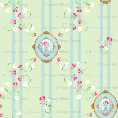 Petite Medallion in Blue and Mint