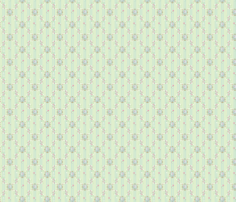 Petite Medallion in Blue and Mint fabric by emmyabbott on Spoonflower - custom fabric