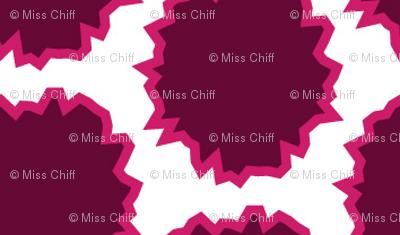 Pink Magenta Plum Rough Circles Graphic_Miss Chiff Designs