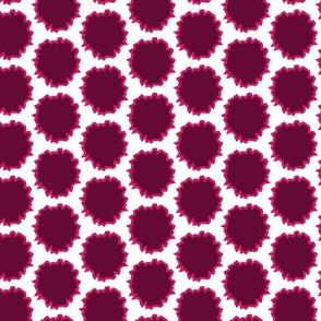 Pink Magenta Plum Rough Circles_Miss Chiff Designs