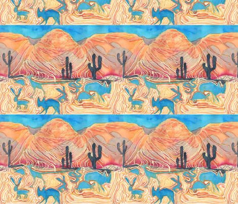 Desert Animal Spirits fabric by ochrenest on Spoonflower - custom fabric