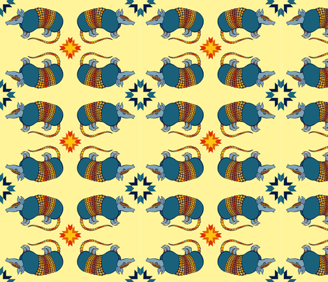 Southwestern_Armadillo_2 fabric by simplyprinted on Spoonflower - custom fabric