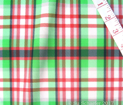 Coolest Green + Red Plaid by Su_G_©SuSchaefer