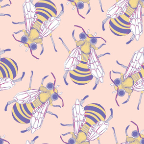 Giant Bee in Peach