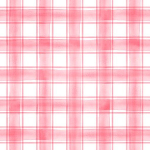 watercolor plaid || pink double