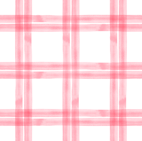 spring plaid || pink fabric by littlearrowdesign on Spoonflower - custom fabric